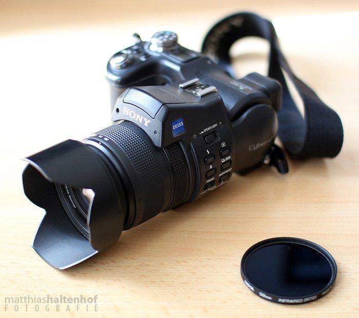 Sony F828 mit Hoya R72