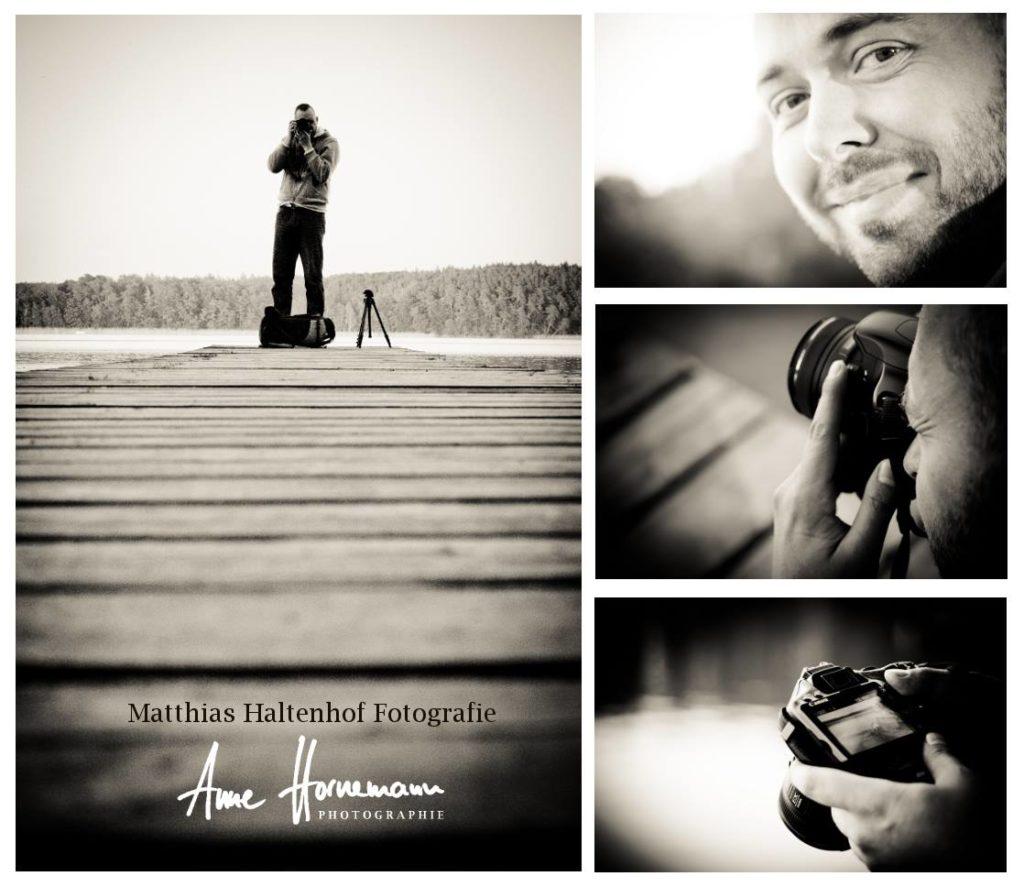 Matthias mit Fotoausrüstung beim Fotografieren - Danke an Anne Hornemann
