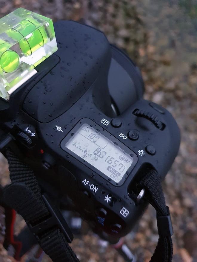 Die Kamera hält auch mal ein paar Wasserspritzer aus