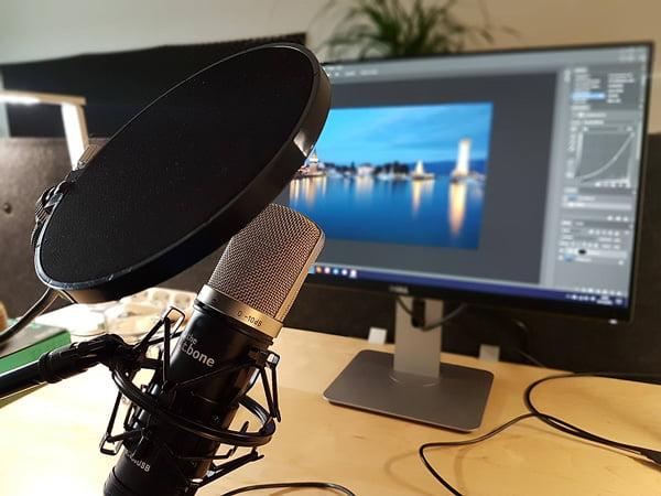 Aufnahme meines Videokurses über Bildbearbeitung für Landschaftsfotografie
