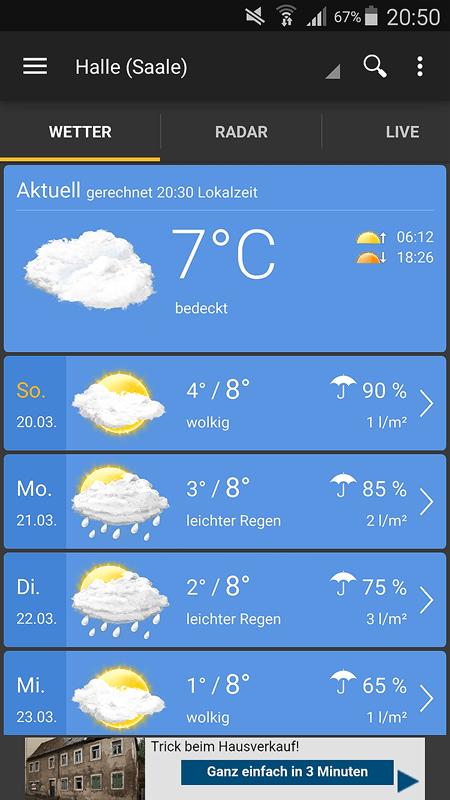 Wetter App Test 2019 6 Wetter Apps Für Android Im Test